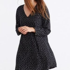 Madewell Star Printed Button Back Silk Dress S